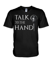 TALK TO THE HAND V-Neck T-Shirt thumbnail