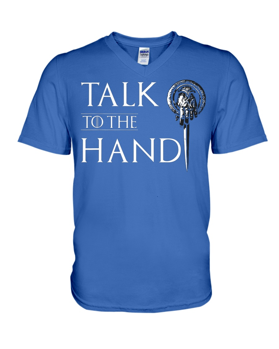 TALK TO THE HAND V-Neck T-Shirt