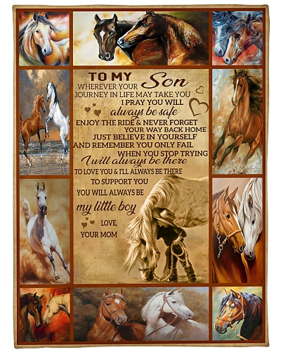 Blanket-Horse- To my Son - Love Mom-HTV
