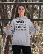 I AM SINGLE Hooded Sweatshirt apparel-hooded-sweatshirt-lifestyle-05