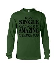 I AM SINGLE Long Sleeve Tee thumbnail