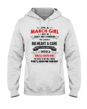 MARCH GIRL Hooded Sweatshirt front