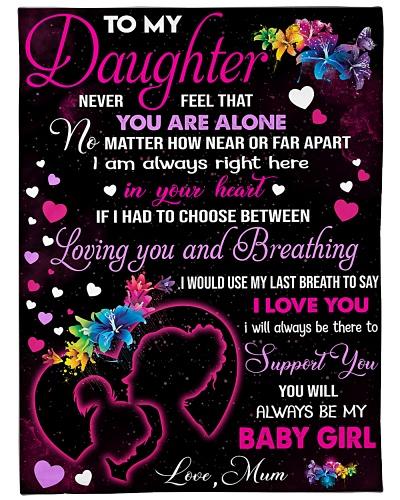 Blanket-To my Daughter - Love Mum-HTV