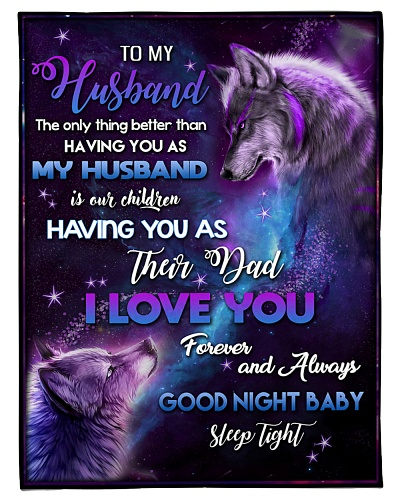 BLANKET - TO MY HUSBAND - WOLF - HTL