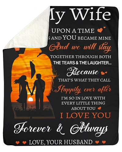 Blanket-To my Wife-Love you forever-HTV