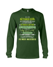 OCTOBER GIRL Long Sleeve Tee front