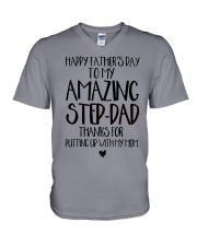 STEP DAD - FATHER DAY V-Neck T-Shirt tile