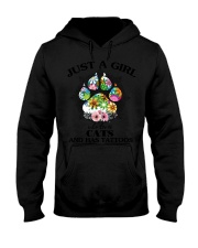 Shirt-CATS AND TATTOOS Hooded Sweatshirt tile