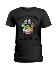 Shirt-CATS AND TATTOOS Ladies T-Shirt tile