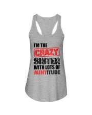 I'M THE CRAZY SISTER Ladies Flowy Tank thumbnail