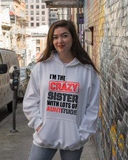I'M THE CRAZY SISTER Hooded Sweatshirt lifestyle-unisex-hoodie-front-1