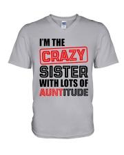I'M THE CRAZY SISTER V-Neck T-Shirt thumbnail
