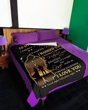 "Blanket - To my Wife - PCC Large Fleece Blanket - 60"" x 80"" aos-coral-fleece-blanket-60x80-lifestyle-front-01"