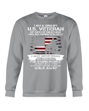 I AM A GRUMPY US VETERAN Crewneck Sweatshirt thumbnail