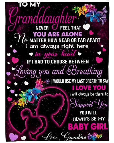 Blanket-To my Granddaughter - HTV