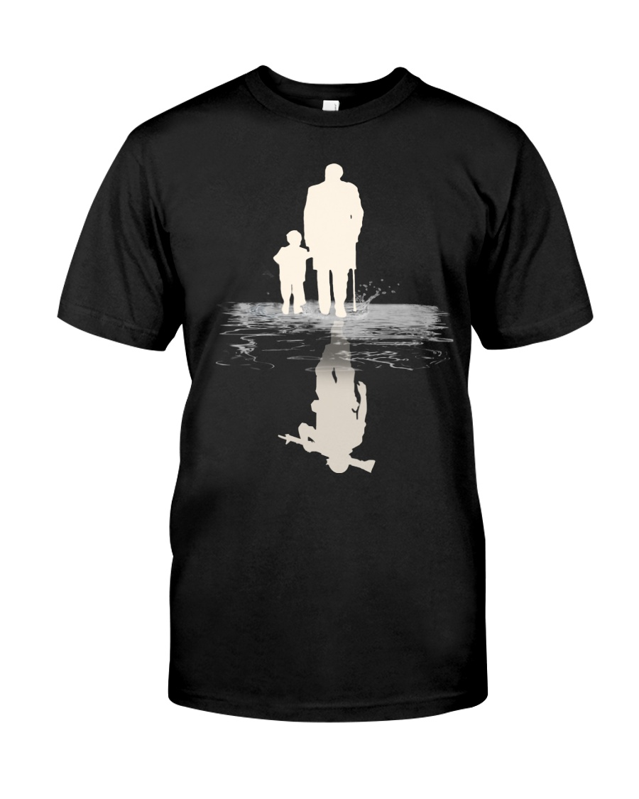 I  BECOME PAPA AND GRANPA - VETERAN Premium Fit Mens Tee