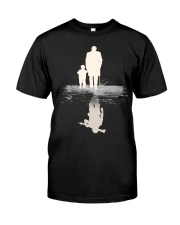 I  BECOME PAPA AND GRANPA - VETERAN Premium Fit Mens Tee front