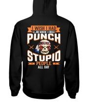 PUNCH STUPID PEOPLE - FULY Hooded Sweatshirt back