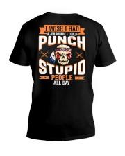 PUNCH STUPID PEOPLE - FULY V-Neck T-Shirt thumbnail