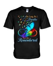 As Long As I Breathe You'll Be Remembered V-Neck T-Shirt thumbnail
