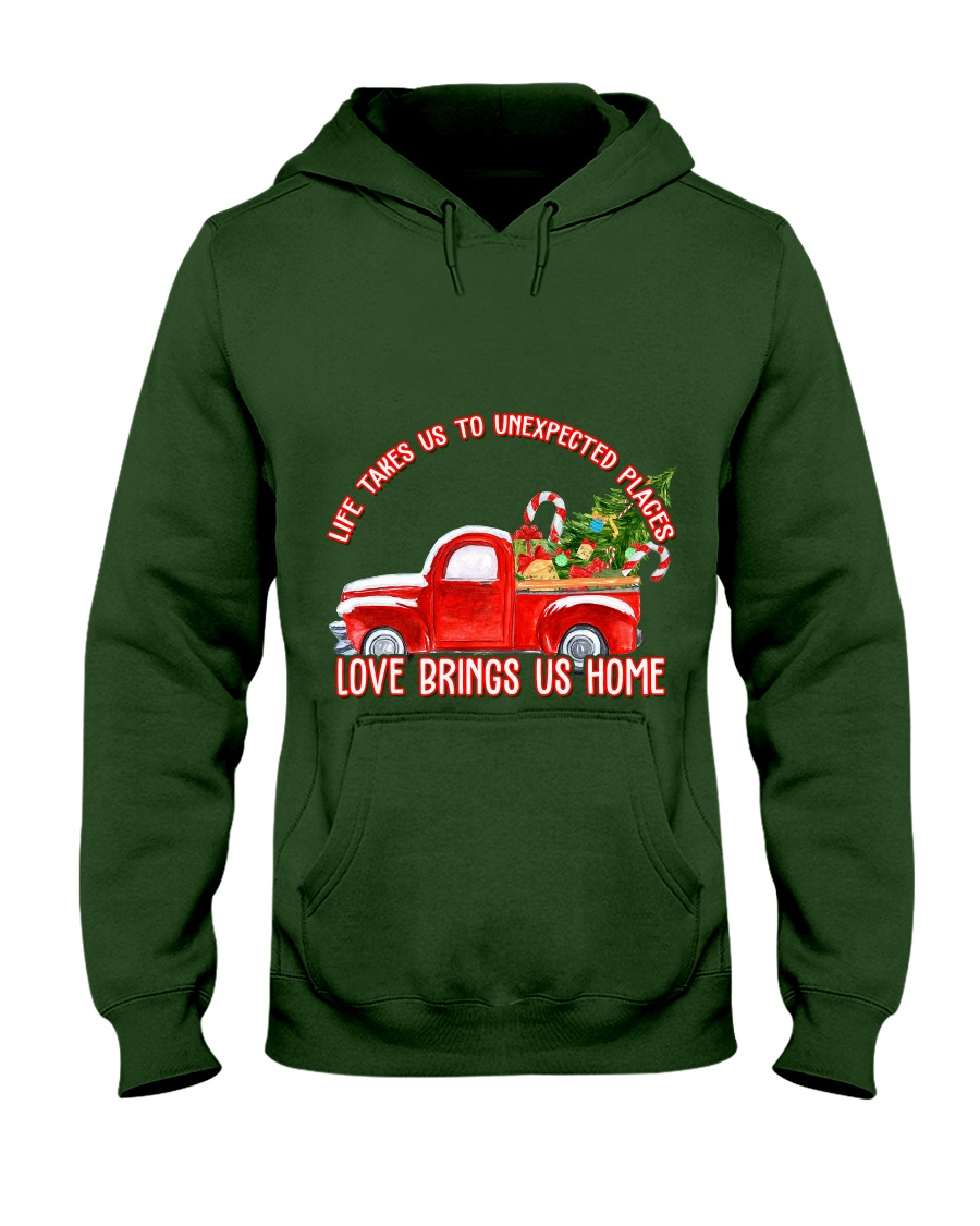 TOM- LOVE BRINGS US HOME RED TRUCK  Hooded Sweatshirt