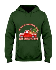 TOM- LOVE BRINGS US HOME RED TRUCK  Hooded Sweatshirt front
