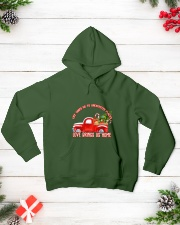 TOM- LOVE BRINGS US HOME RED TRUCK  Hooded Sweatshirt lifestyle-holiday-hoodie-front-3