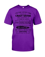 I LOVE MY CRAZY SISTER Classic T-Shirt tile