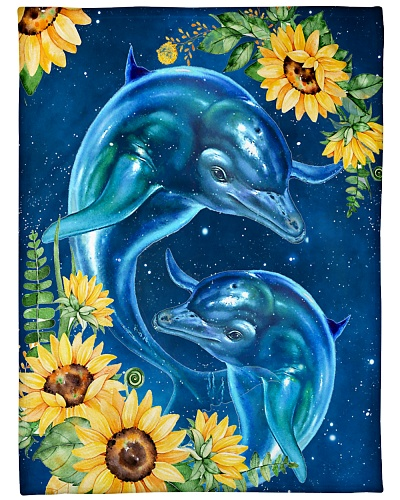 BLANKET-BEAUTIFUL DOLPHINS-HTV