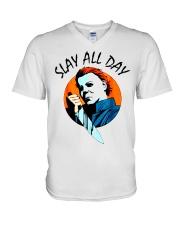 SLAY ALL DAY V-Neck T-Shirt thumbnail