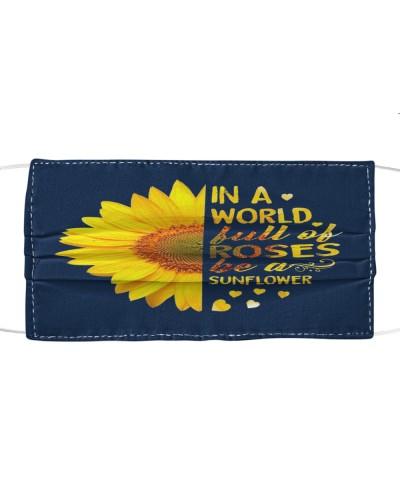 Fabric Mask Sunflower  - PC