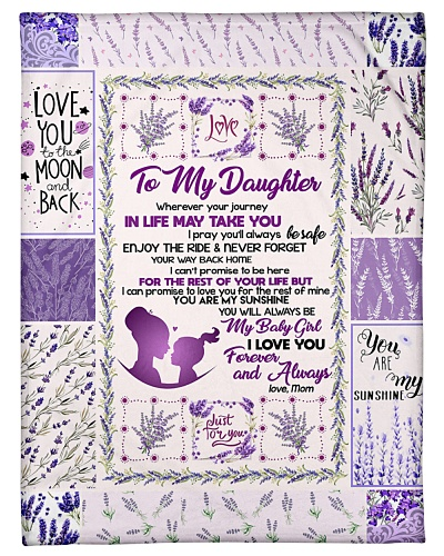 BLANKET - TO MY DAUGHTER - LAVENDER - DTA