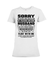 MY FREAKING AWESOME HUSBAND- version Premium Fit Ladies Tee tile
