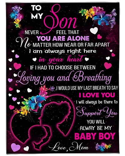 Blanket-To my Son- HTV