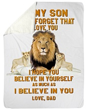 "BLANKET-TO MY SON-02 Large Sherpa Fleece Blanket - 60"" x 80"" thumbnail"