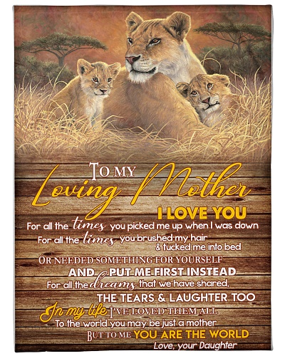 Blanket-Lion- To my Loving mother-HTV