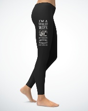 I'M A SPOILED WIFE - MY HUSBAND JUST LOVES ME Ladies Leggings lifestyle-leggings-right-1