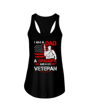 I AM A DAD A GRANDPA AND A US VETERAN Ladies Flowy Tank tile