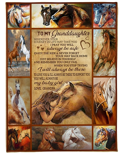 BLANKET-HORSE-TO MY GRANDDAUGHTER-GRANDPA-HTV