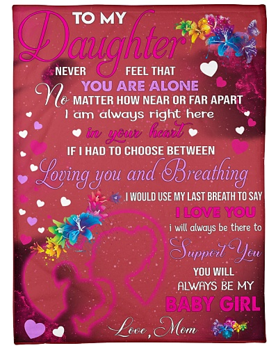 Blanket-To my Daughter- Love Mom-HTV