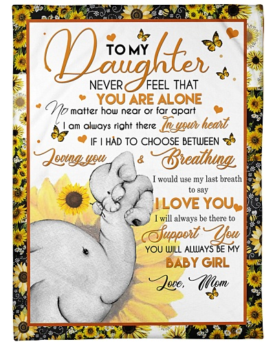 Blanket-Elephant- To my daughter-HTV