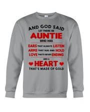 AND GOD SAID LET THERE BE AUNTIE Crewneck Sweatshirt thumbnail