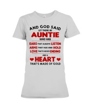 AND GOD SAID LET THERE BE AUNTIE Premium Fit Ladies Tee thumbnail