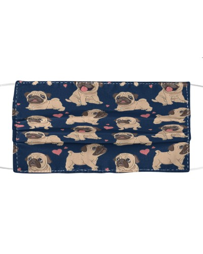 Fabric Mask Pug-face version-HTV