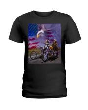 BIKER - DTS Ladies T-Shirt tile