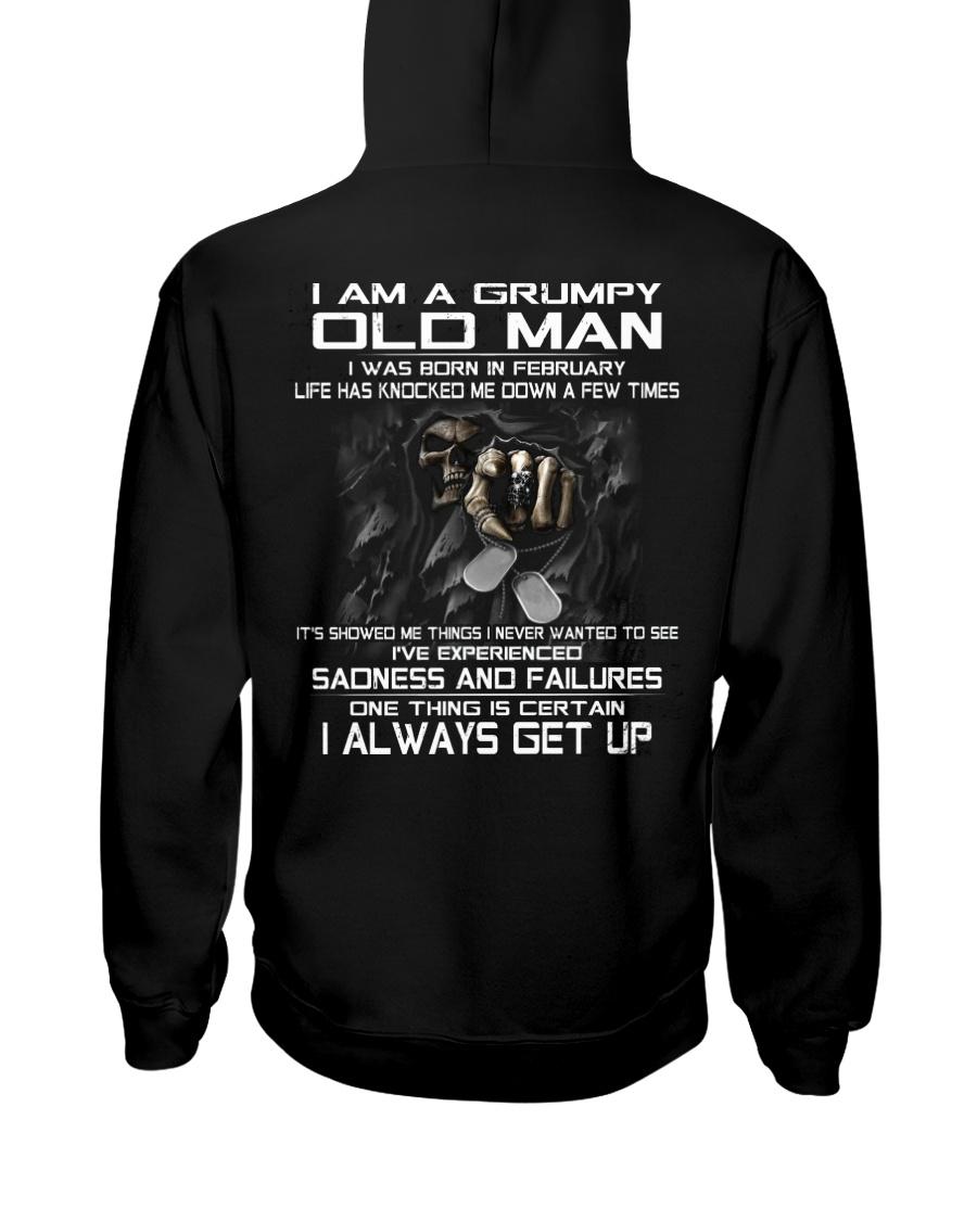 GRUMPY OLD MAN ALWAYS GET UP- VERSION 2 Hooded Sweatshirt