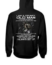 GRUMPY OLD MAN ALWAYS GET UP- VERSION 2 Hooded Sweatshirt back