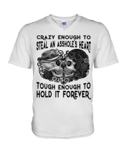 TOUHG ENOUGH TO HOLD IT FOREVER V-Neck T-Shirt thumbnail