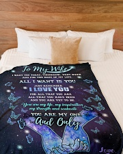 "Blanket - To my wife- You're my one and only - HTV Large Fleece Blanket - 60"" x 80"" aos-coral-fleece-blanket-60x80-lifestyle-front-02"