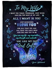 "Blanket - To my wife- You're my one and only - HTV Large Fleece Blanket - 60"" x 80"" front"